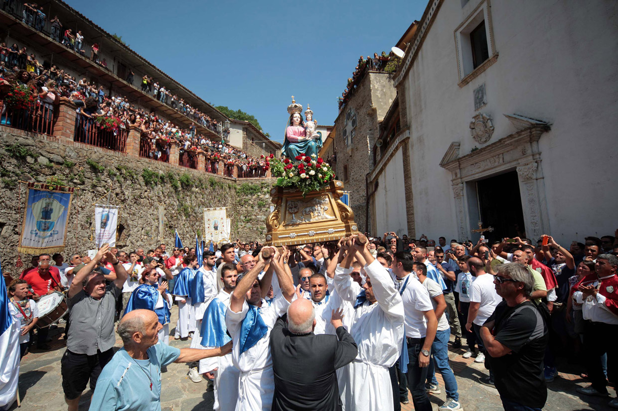 The feast of Madonna di Polsi