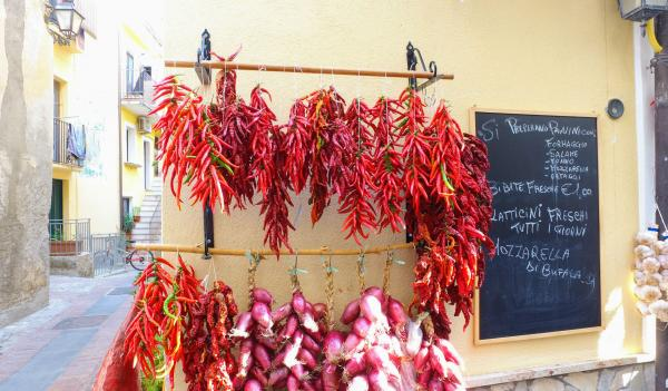 Chilli pepper and onion for sale